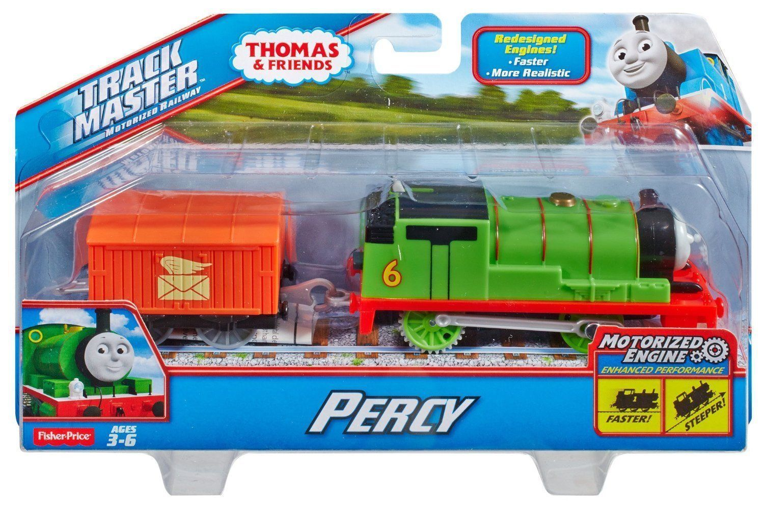 Thomas Amp Friends Trackmaster Motorized Railway Percy Engine
